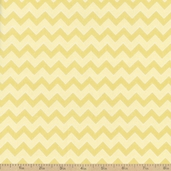 Teddy Time Chevron Stripe Flannel Fabric - Yellow