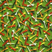 Tee Time Cotton Fabric - Green