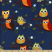Ten Little Things Cotton Fabric - Blue 30502-20