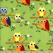 Ten Little Things Cotton Fabric - Green 30502-16