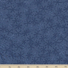Ten Little Things Dots Twinks Cotton Fabric - Navy