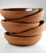 Terra Cotta Pot Saucers Glazed 4.5 in Pkg of 24