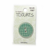 Textures Ceramic Buttons - Green