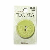 Textures Ceramic Buttons - Green Leaves