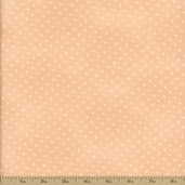 Buggy Barn Basics Polka Dot Cotton Fabric - Peach