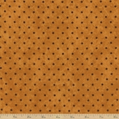 The Buggy Barn Essentials 8 Dot Flannel Fabric - Gold