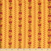 The Buggy Barn Essentials 8 Floral Stripe Flannel Fabric - Yellow