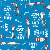 The Cat in the Hat Cotton Fabric - Celebration