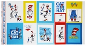The Cat in the Hat Cotton Fabric - Celebration Panel