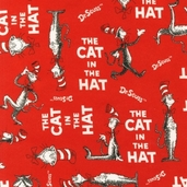 The Cat in the Hat Flannel - Ruby Red