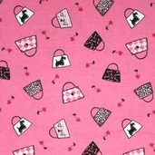 The Cat's Meow Flannel - Pink
