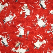 The Daily Special Fabric - Red