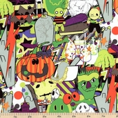 The Dr. Is In Halloween Cotton Fabric