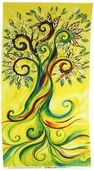 The Healing Tree Canvas Cotton Fabric Panel 108-01