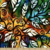 The Healing Tree Vitality Cotton Fabric - Multi-Color 108-03