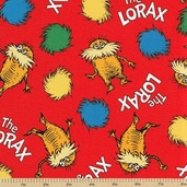 The Lorax Organic Cotton Fabric - Bright