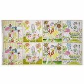 The Makers Happy Crafty Panel Cotton Fabric - Multi