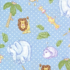 The Mighty Jungle Flannel Fabric - Blue