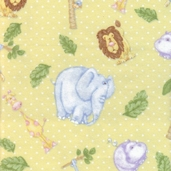The Mighty Jungle Flannel Fabric - Yellow
