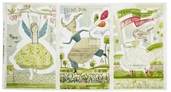 The Sweet Life Panel Cotton Fabric - White