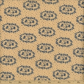 The Union Forever Cotton Fabric - Beige/Blue R33-4986-0150 - CLEARANCE