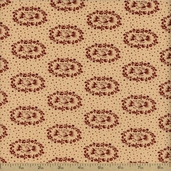 The Union Forever Cotton Fabric - Beige/Red R33-4986-0111