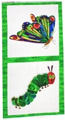 The Very Hungry Caterpillar Cotton Fabric - Butterfly Panel
