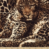 The Wild Side Cheetah Allover Cotton Fabric - Brown