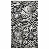 The Wild Side Cotton Fabric Panel - Grey