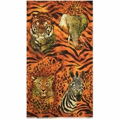 The Wild Side Cotton Fabric Panel - Wild