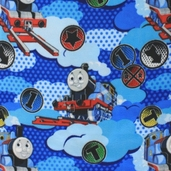 Thomas the Tank Engine Fleece Fabric - Blue
