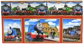 Thomas the Train Rail Heroes Cotton Fabric - Panel