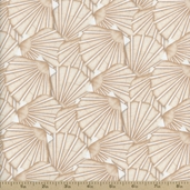 Tidepools Packed Scallop Shell Cotton Fabric - Shell