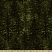 Timber Lodge Cotton Flannel Fabric - Evergreen AKQF-12626-224