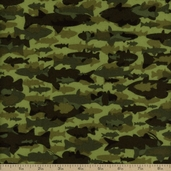 Timber Lodge Cotton Flannel Fabric - Moss AKQF-12624-45