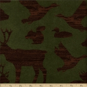 Timber Lodge Cotton Flannel Fabric - Nature ARLF-12617-268
