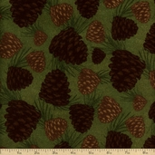 Timber Lodge Cotton Flannel Fabric - Nature ARLF-12619-268