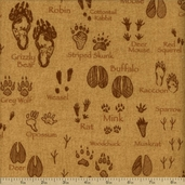 Timber Lodge Cotton Flannel Fabric - Ochre AKQF-12623-126
