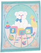 Tiny Toys Cotton Fabric Panel - CLEARANCE