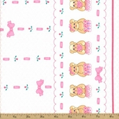 Tiny Toys Cotton Fabric - Pink Q.16130-47002-133