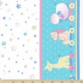 Tiny Toys Nursery Border Cotton Fabric - Clearance