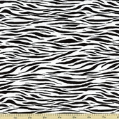 Tippy Toes Zebra Stripe Cotton Fabric