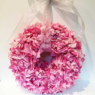 Tissue Paper Wreath