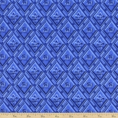 To Rome With Love Diamond Relief Cotton Fabric - Cobalt
