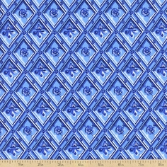 To Rome With Love Diamond Relief Cotton Fabric - Powder Blue
