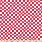Today's Special Checkered Cotton Fabric - Red