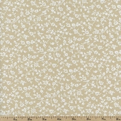Tone on Tone Floral Cotton Fabric - Tea Stain TONE-3033