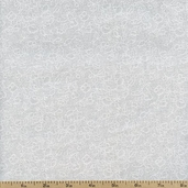 Tone on Tone Floral Cotton Fabric - White TONE-3000 - Clearance