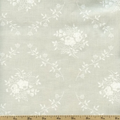 Tone on Tone Floral Vine Cotton Fabric - Tan TONE-3048