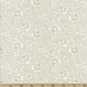 Tone on Tone Floral Webbing Cotton Fabric - Tea Stain TONE-3052 - Clearance